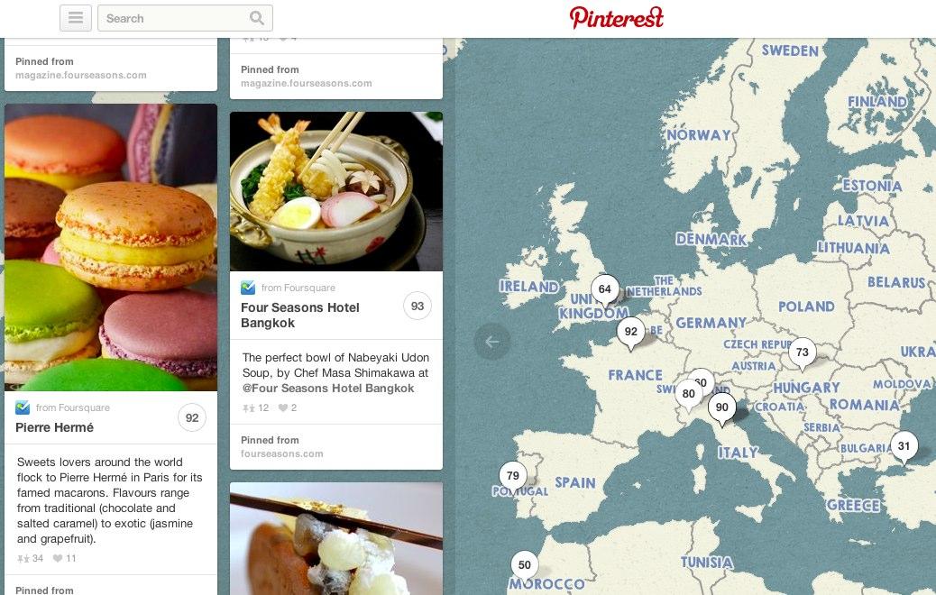 Möglichkeit und Nutzen der Pinterest Place Pins