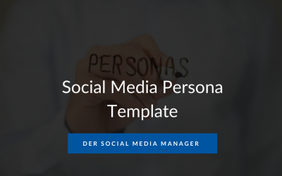 Social Media Persona Template