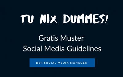 Muster: Social Media Guidelines