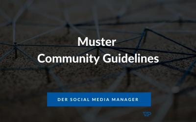 Muster für Community Guidelines / Community Richtlinien